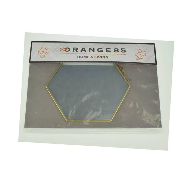 Orange85 Hexagon Spiegel Goud 17x20 cm