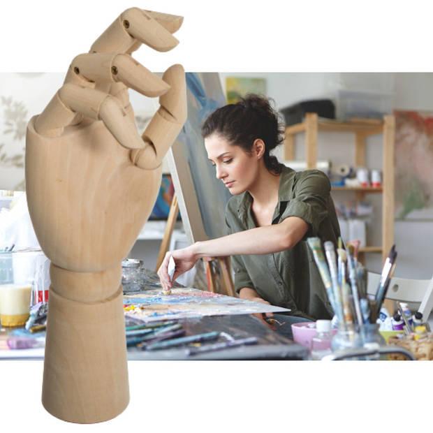 Decopatent® Tekenhand - Houten Hand model - Handen Tekenmodel -