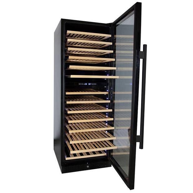 Vinata Wijnklimaatkast Premium met zwarte deur - 154 Flessen