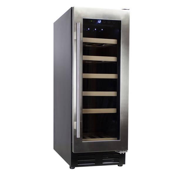 Vinata Wijnklimaatkast Premium met RVS glazen deur - 18 Flessen