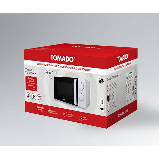 Tomado TMS2001W - solo magnetron - 700 watt - 20 liter - wit