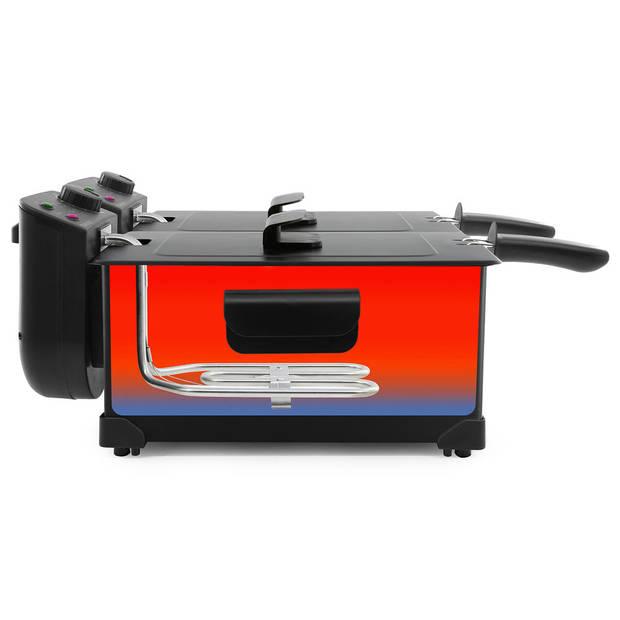 Tomado TDF6001B - dubbele frituurpan - 2x3 liter - zwart