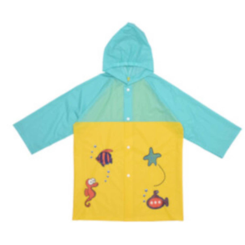 Free and Easy regenjas junior polyester geel/turquoise maat XS online kopen