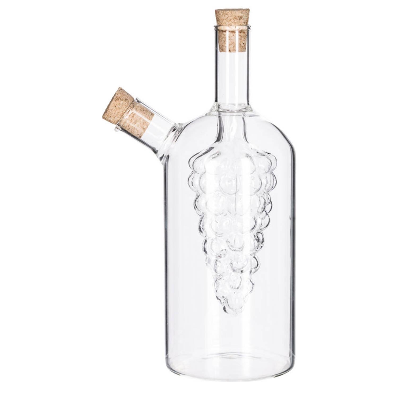 Decopatent® 2in1 Olie En Azijnstel Glas - Druif Vorm Met Kurken -