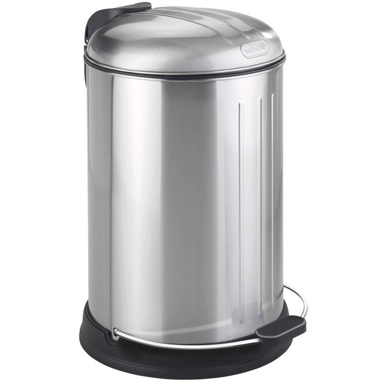 Wenko Pedaalemmer Lagun 12 Liter 33 X 43,5 Cm Rvs Matzilver