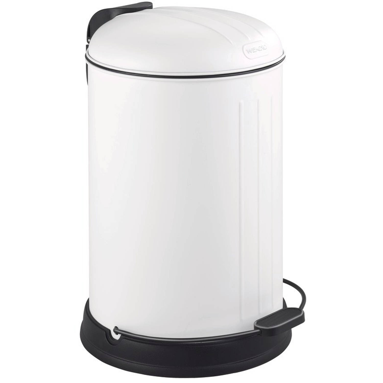 Wenko Pedaalemmer Lagun 12 Liter 33 X 43,5 Cm Rvs Wit