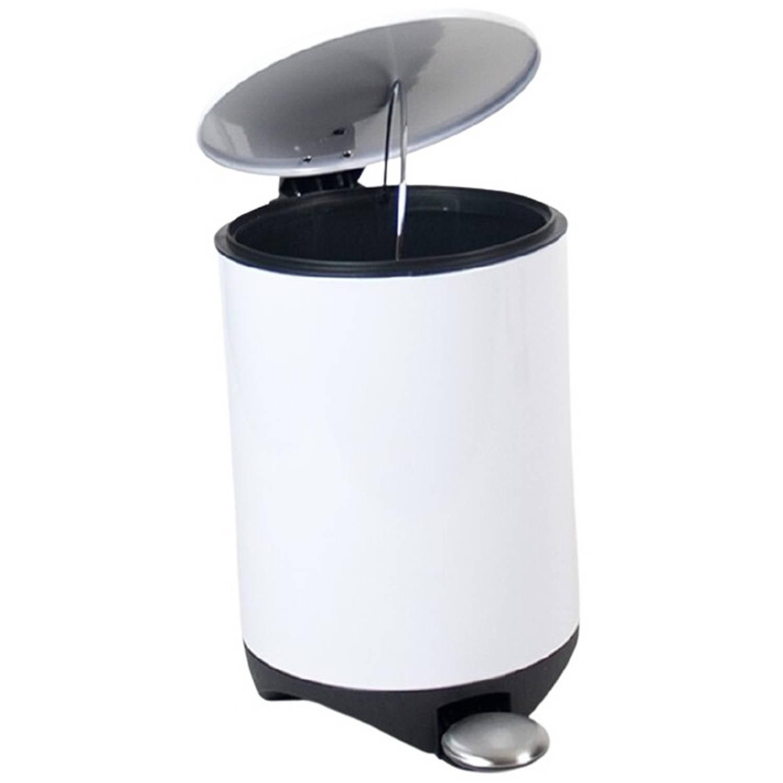 Gerimport Afvalemmer 21 X 20 X 30 Cm Staal Wit 5 Liter