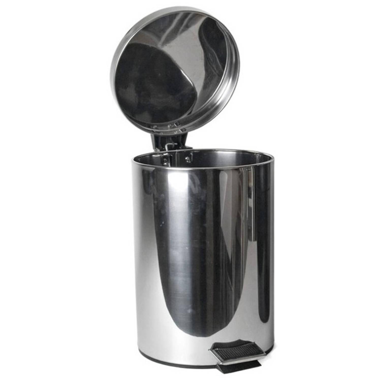 Gerimport Prullenbak Pedaal 21 X 24 Cm Rvs Zilver 3 Liter