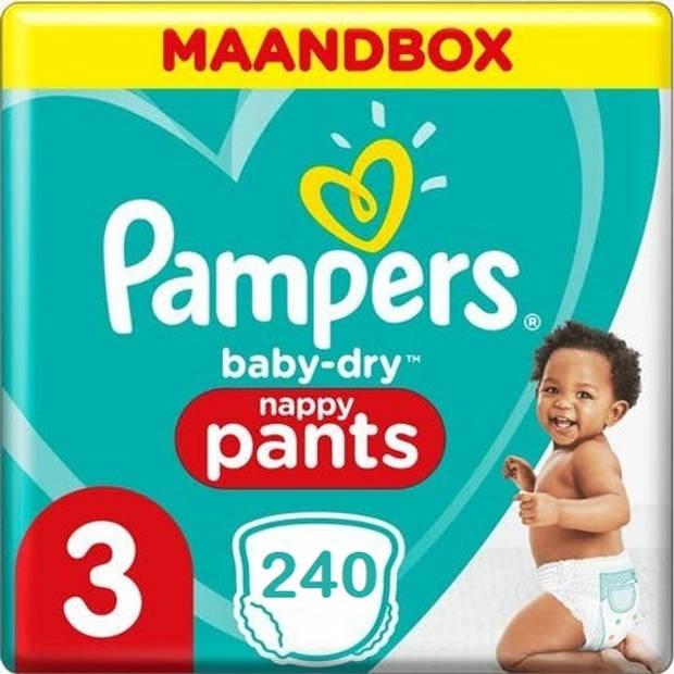 Pampers Baby Dry Pants Maat 3 - 240 Luierbroekjes Maandbox XL