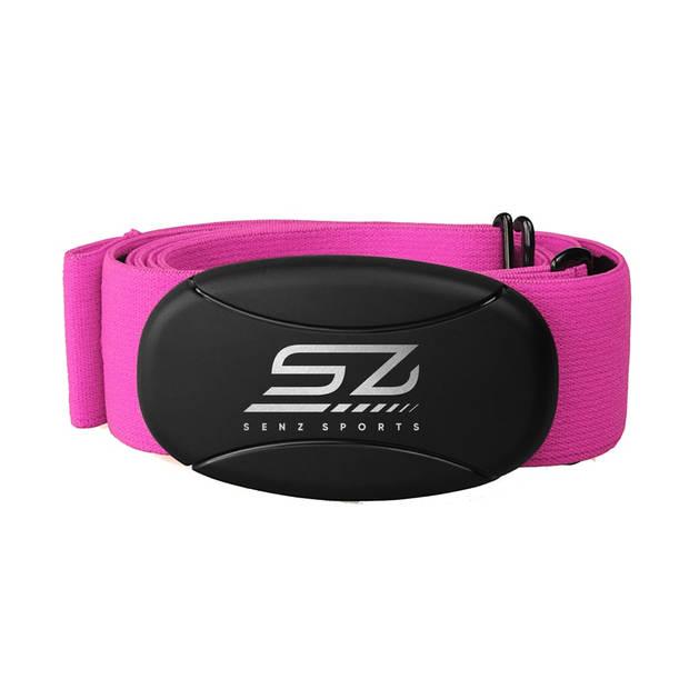 Hartslagmeter - Senz Sports 3-in-1 Borstband - Roze