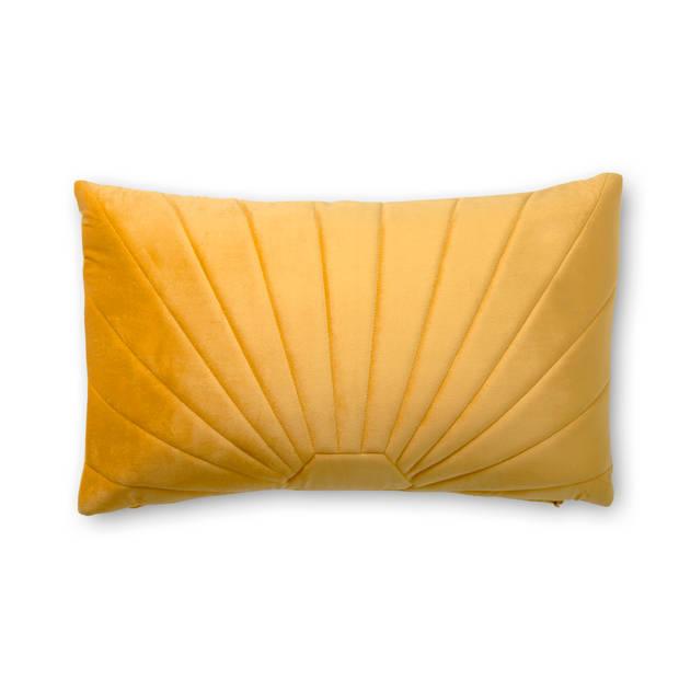 Blokker kussen Siena - 30x50 cm - okergeel