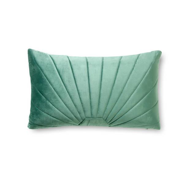 Blokker kussen Siena - 30x50 cm - groen