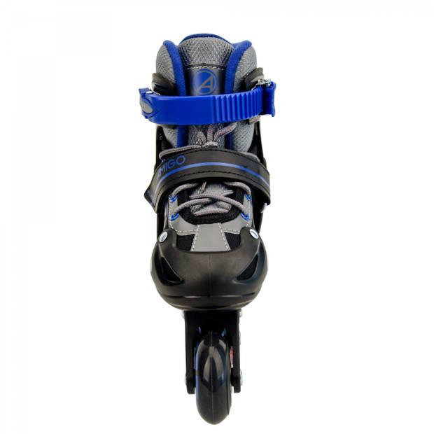 AMIGO inlineskates Fuse jongens polypropyleen zwart/blauw