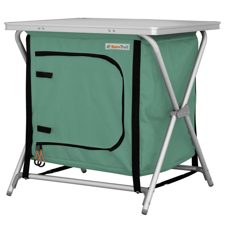 Eurotrail Campingkast Rieux 60 X 50 X 60 Cm Alu-polyester Groen