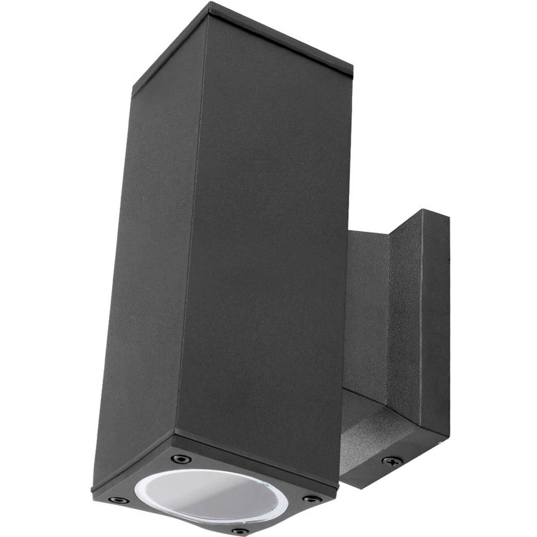 Led Tuinverlichting - Buitenlamp - Aigi Wally Up And Down - Gu10 Fitting - 2-lichts - Mat Zwart - Vi