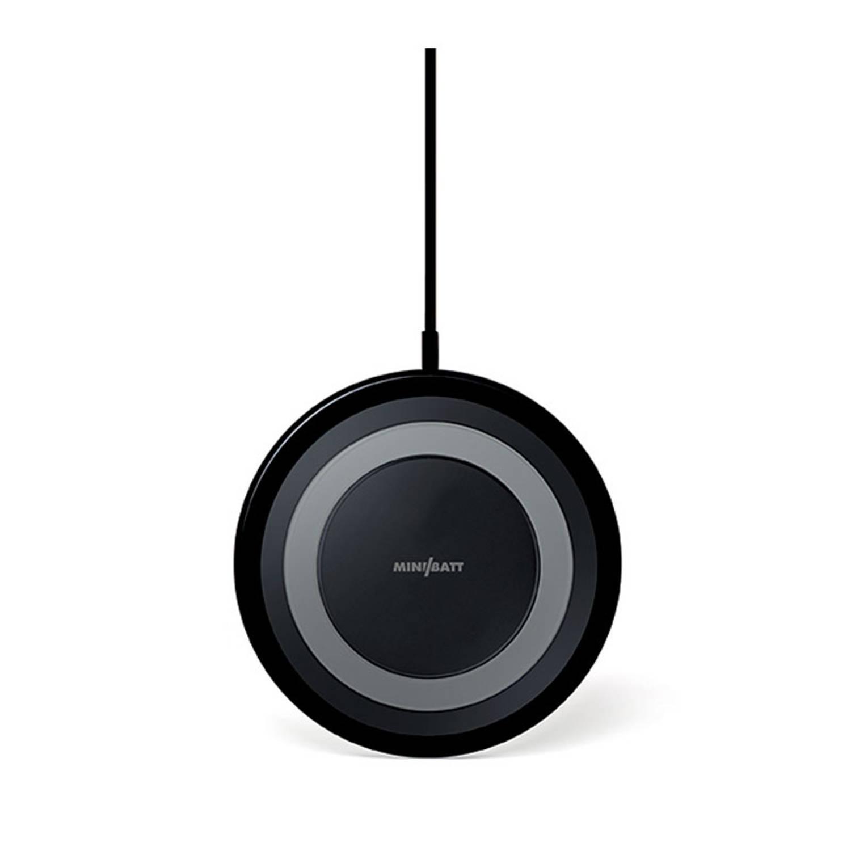 Minibatt Ultraslim Draadloze Telefoon Oplader Fast Charge Zwart