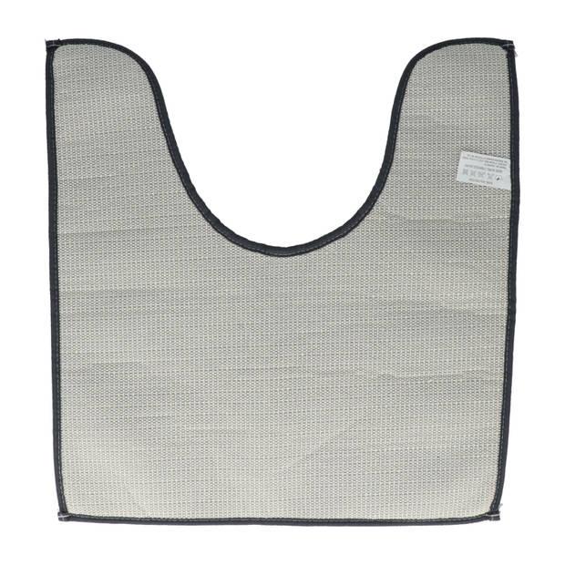 4goodz comfortabele Toiletmat polyester 45x50 cm - Donkergrijs