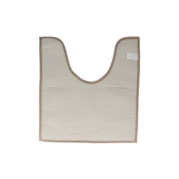 4goodz comfortabele Toiletmat polyester 45x50 cm - Taupe
