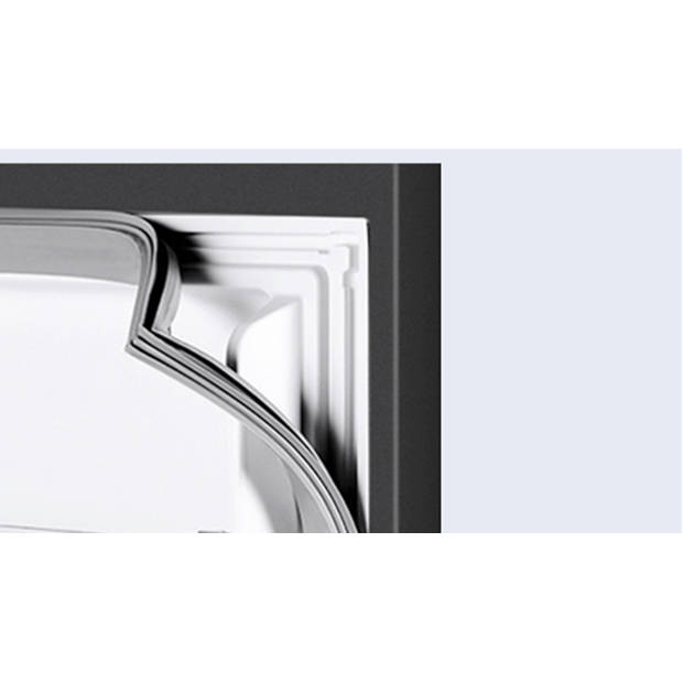 CHiQ FBM260L - Koel-vriescombinatie 260 liter (187 + 73) - Donker RVS - Omkeerbare deuren