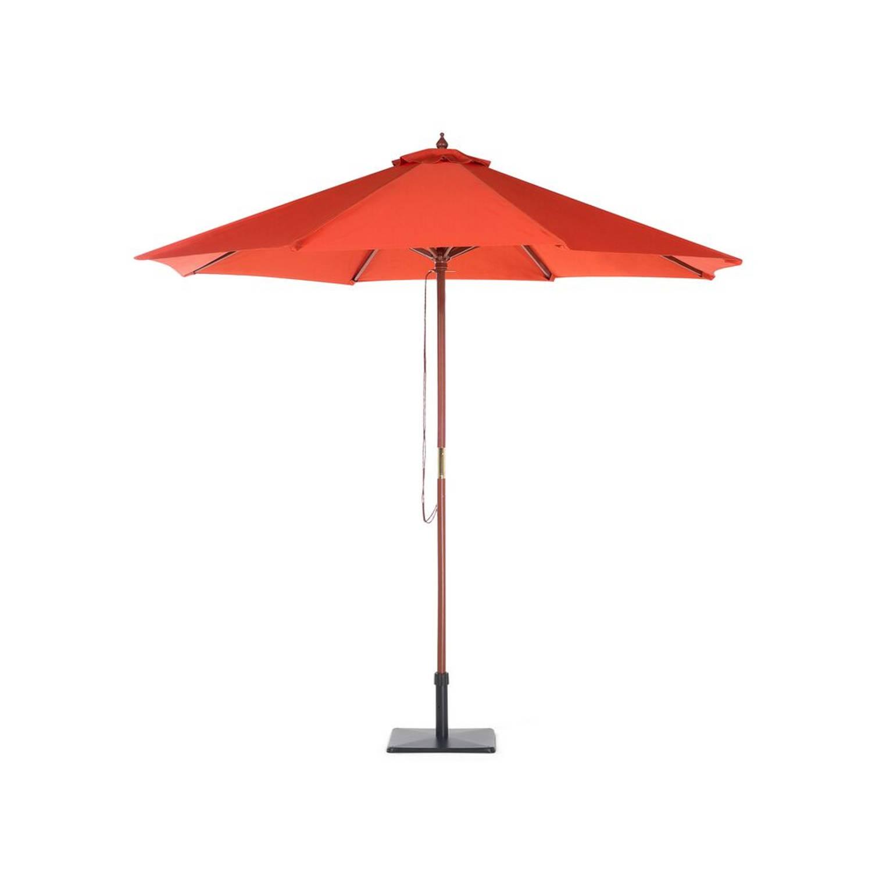 Beliani Toscana - Parasol-rood-polyester