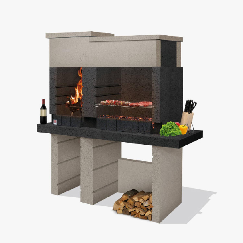 Sarom Fuoco - Betonnen Barbecue - San Pedro - 160 X 51.5 X 172,2 Cm