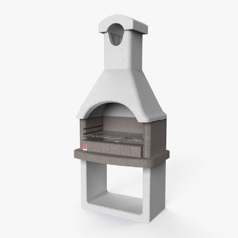 Sarom Fuoco - Betonnen Barbecue - Columbia - 88 X 58 X 197,3 Cm