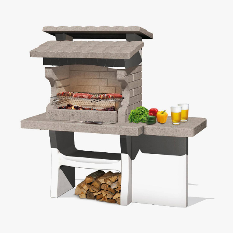 Sarom Fuoco - Betonnen Barbecue - Luxor - 159 X 72 X 161,5 Cm