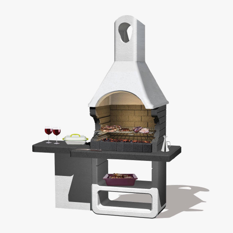 Sarom Fuoco - Betonnen Barbecue - Ulisse- Houtskool -170 X 64 X 232 Cm