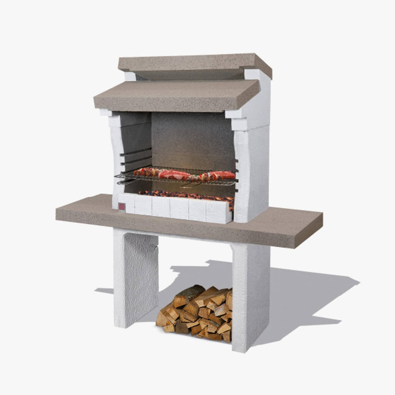 Sarom Fuoco - Betonnen Barbecue - Sondrio - 140 X 59 X 148 Cm