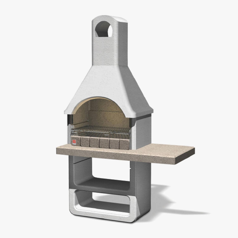 Sarom Fuoco - Betonnen Barbecue - Santa Fe - 125 X 64 X 212,5 Cm