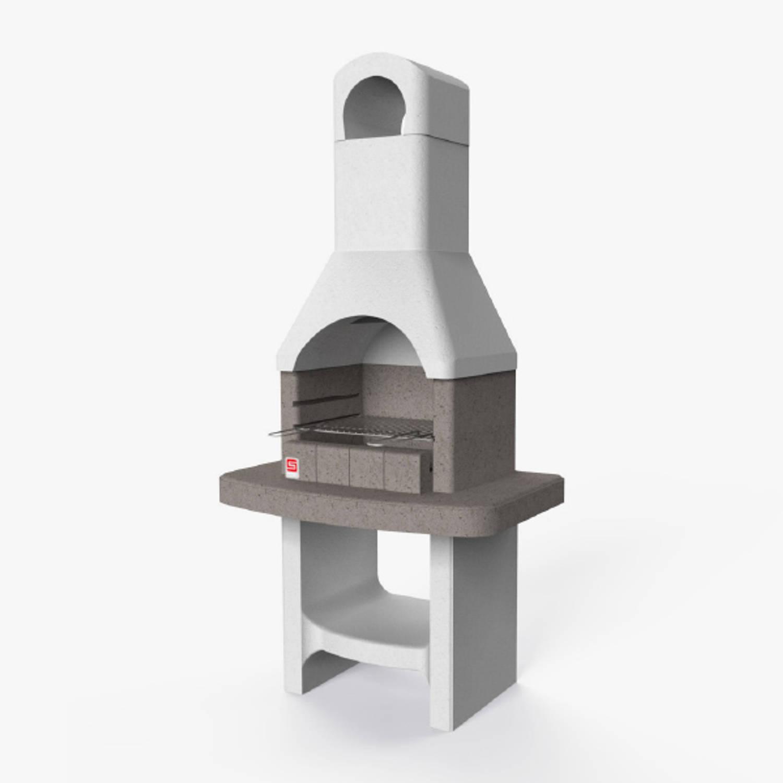 Sarom Fuoco - Betonnen Barbecue - Lucerna - 88 X 58 X 179,1 Cm