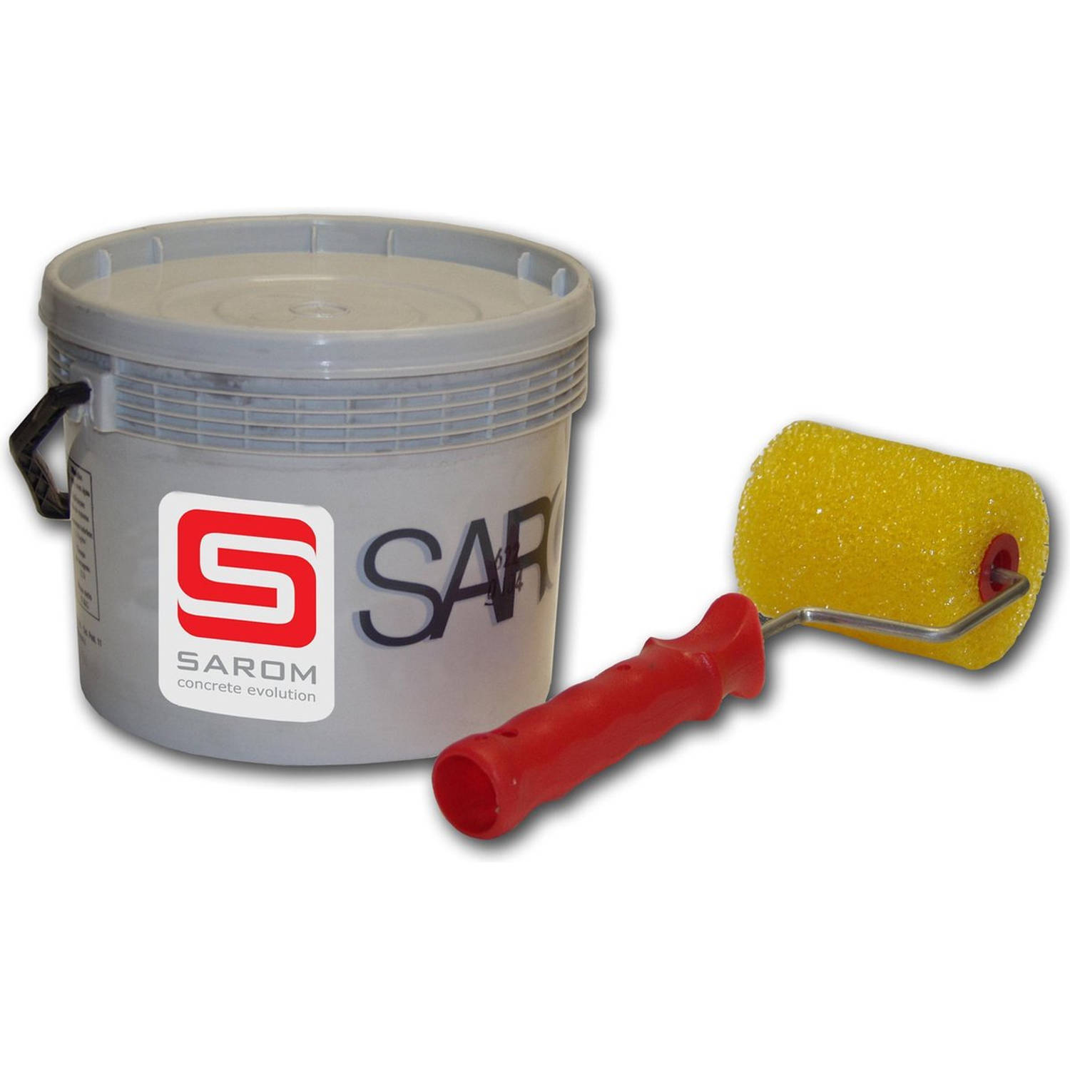 Sarom Fuoco - Barbecueverf - Betonnen Barbecue - 10l - Wit - Roller