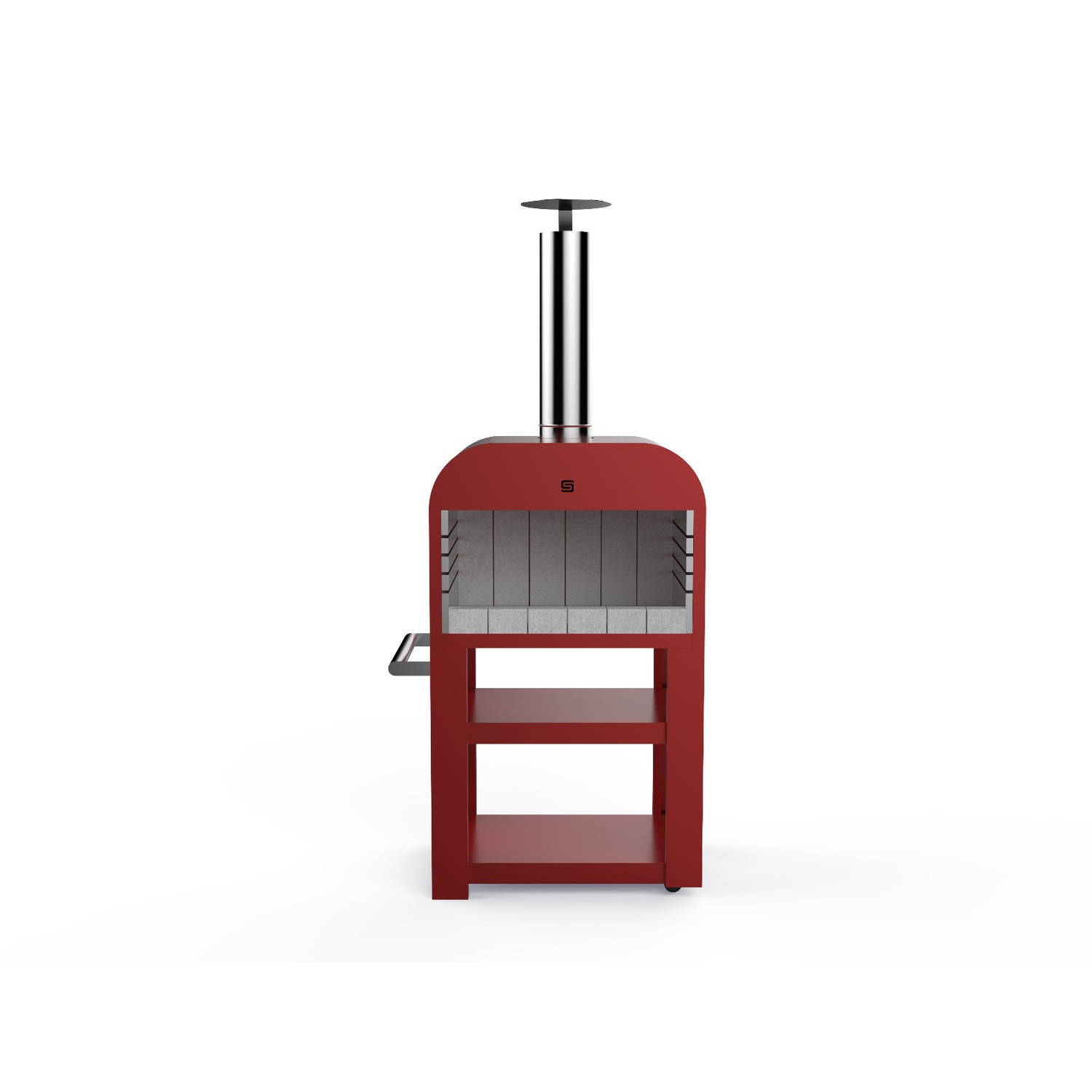 Sarom Fuoco - Iron Large - Barbecue - Houtskool & Hout - Rood