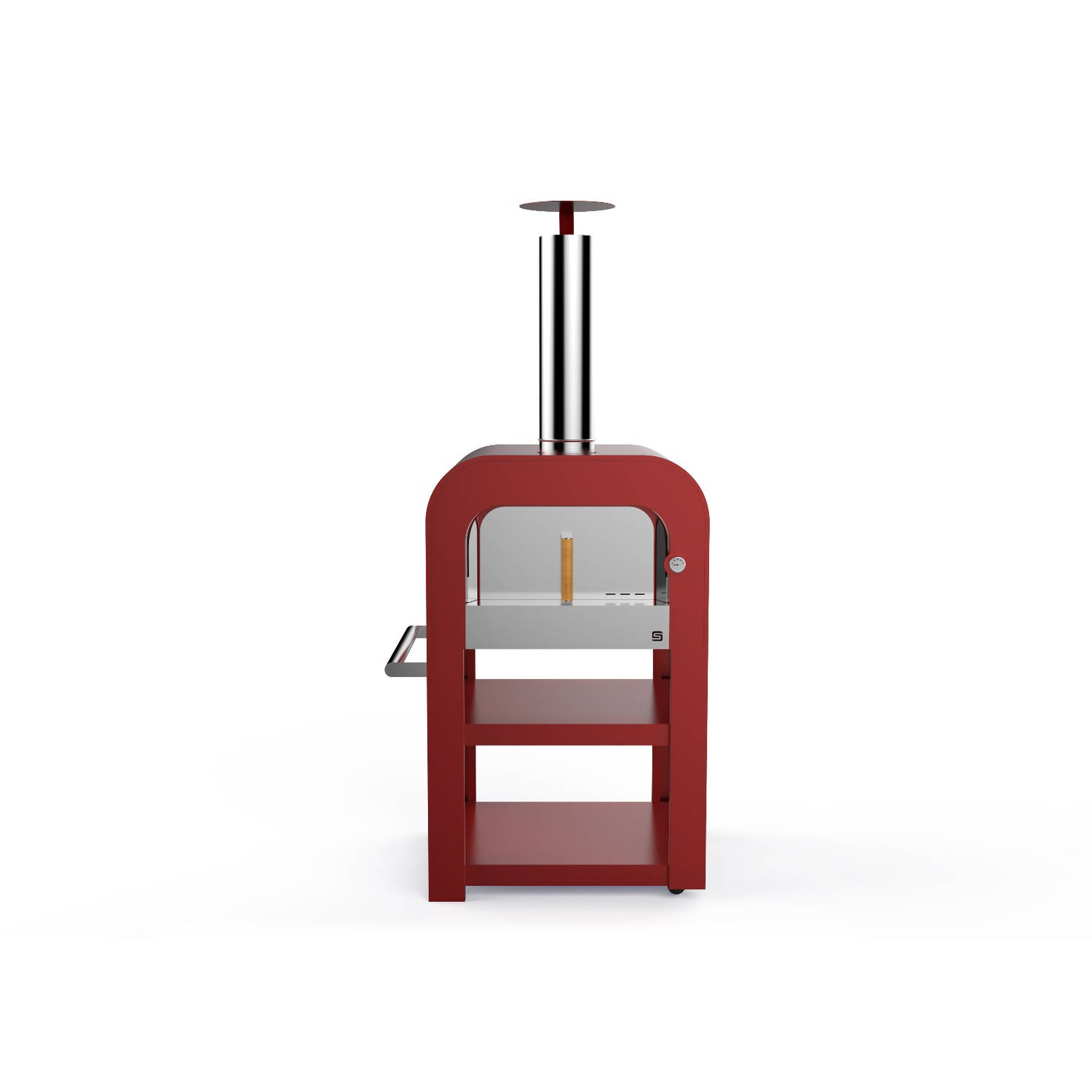 Sarom Fuoco Pizzaoven Fast Oven Houtskool Hout Rood
