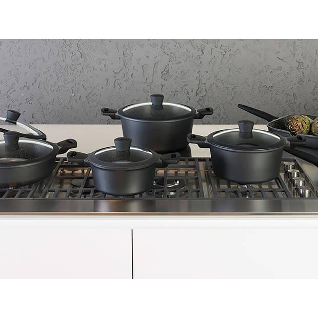 Sola - Paellapan Fair Cooking - Ø 28 cm - Zwart/wit - Inclusief deksel