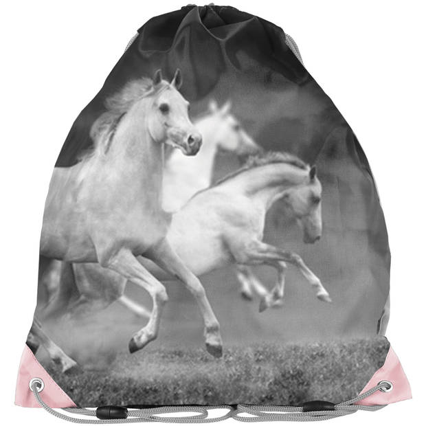 Animal Pictures Witte Paarden Gymbag - 38 x 34 cm - Multi