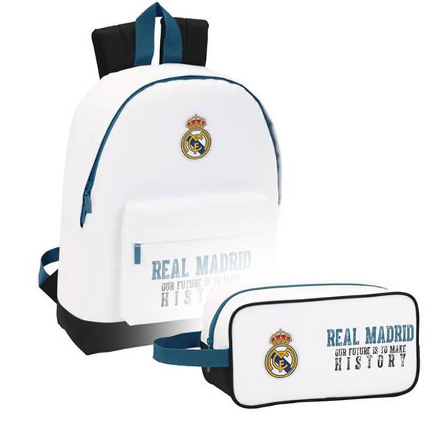 Real Madrid Rugzak Set History - Rugzak en Etui - Polyester