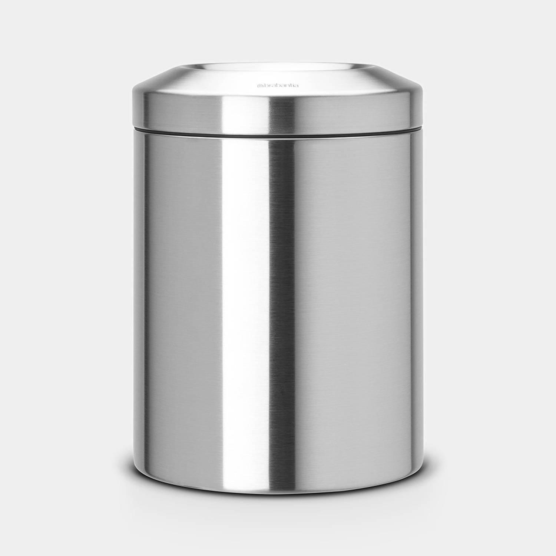 Brabantia Papierbak Met Vlamdover 7 Liter - Matt Steel