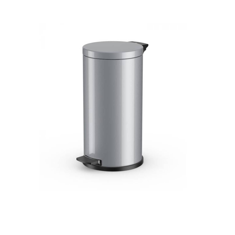 Pedaalemmer Solid L - 18 Liter - Zilver
