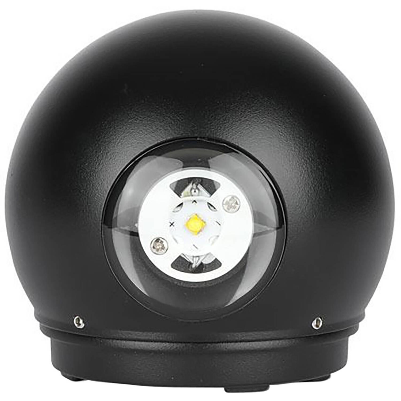 Led Tuinverlichting - Wandlamp - Viron Ascon Up And Down - 6w - Warm Wit 3000k - Mat Zwart - Alumini