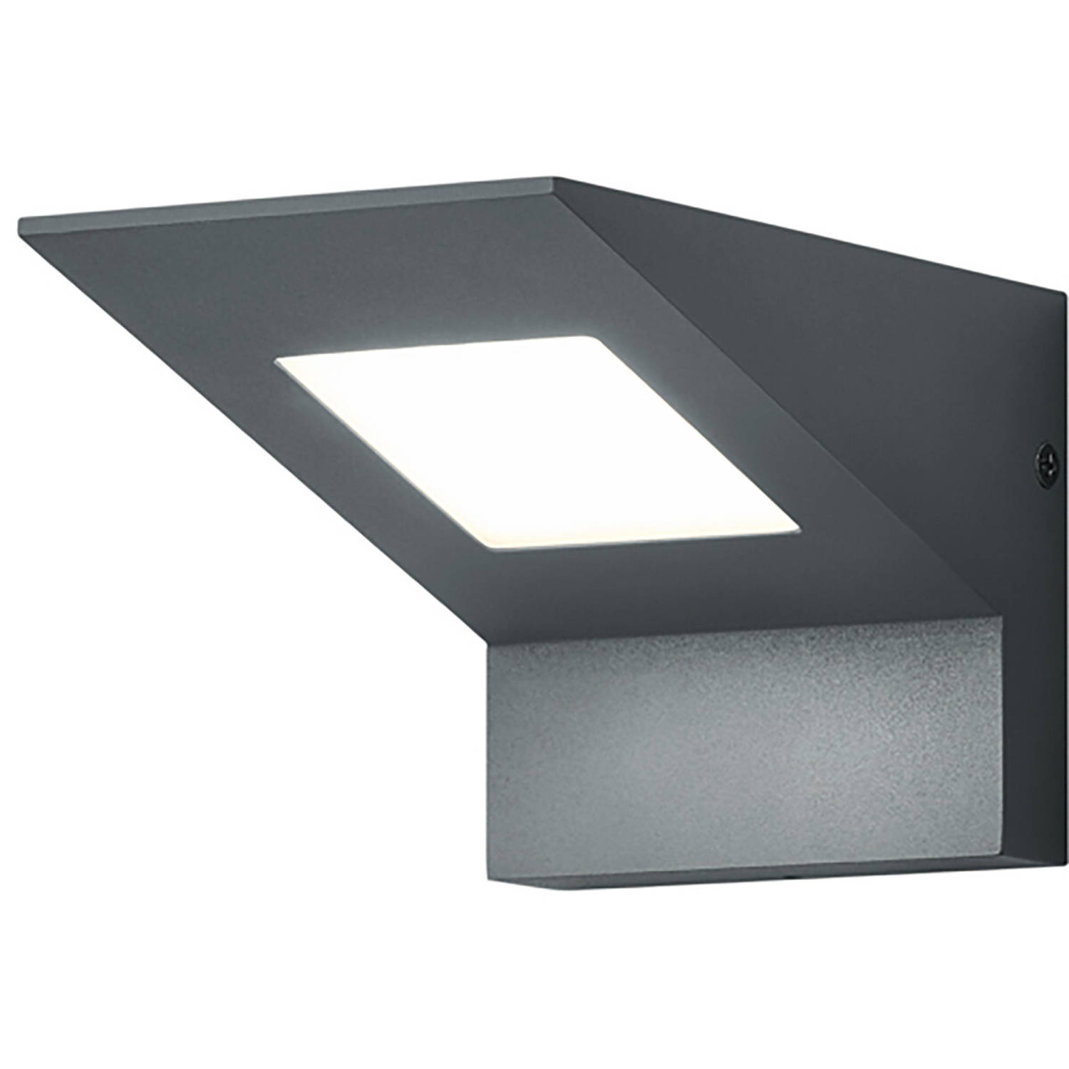 Led Tuinverlichting - Buitenlamp - Trion Nilsona - Wand - 8w - Warm Wit 3000k - Vierkant - Mat Antra