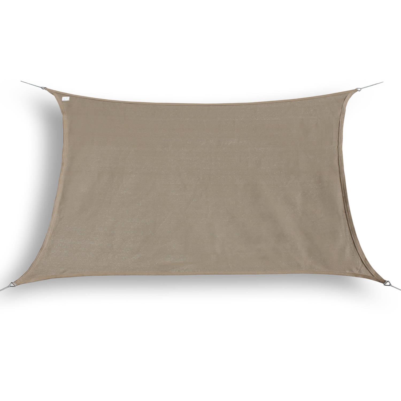 Hanse® Schaduwdoek Vierkant Waterdicht 2x2 M Zonnedoek Taupe