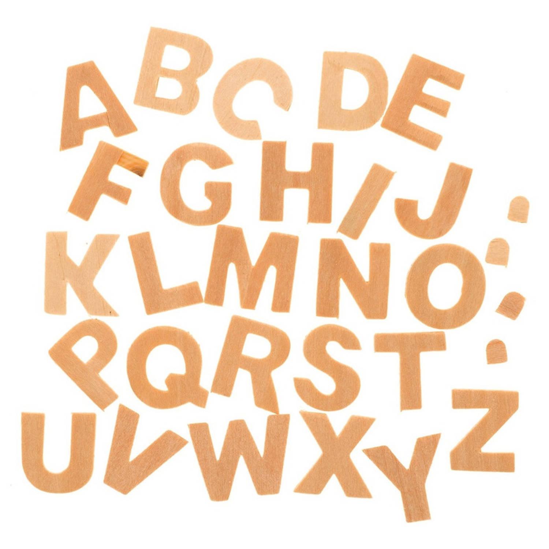 Korting 26x Houten Alfabet Letters 2,5 Cm A T m Z Hobby knutselmateriaal Houten Letters Knutselen schilderen