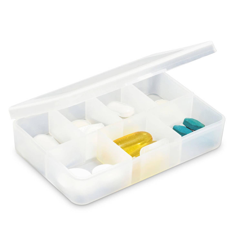 Korting Medicijnen Doosje pillendoosje 7 Vakjes Transparant 8,5 Cm 7 daags Pillen Opberg bewaardoosje