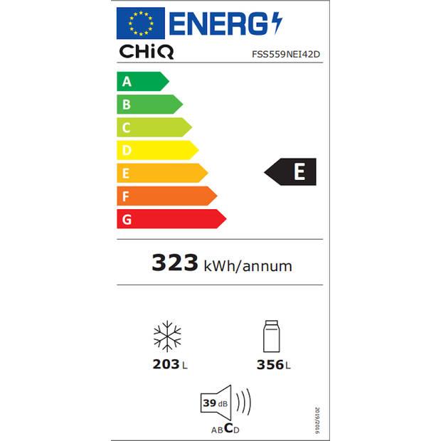 CHiQ FSS559NEI42D - Amerikaanse koelkast - 559L (203 + 356) - no frost