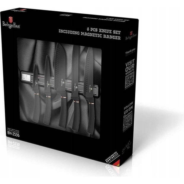 Berlinger Haus 2536 A - 5 delige messenset met magnetisch hangsysteem - Silver collection