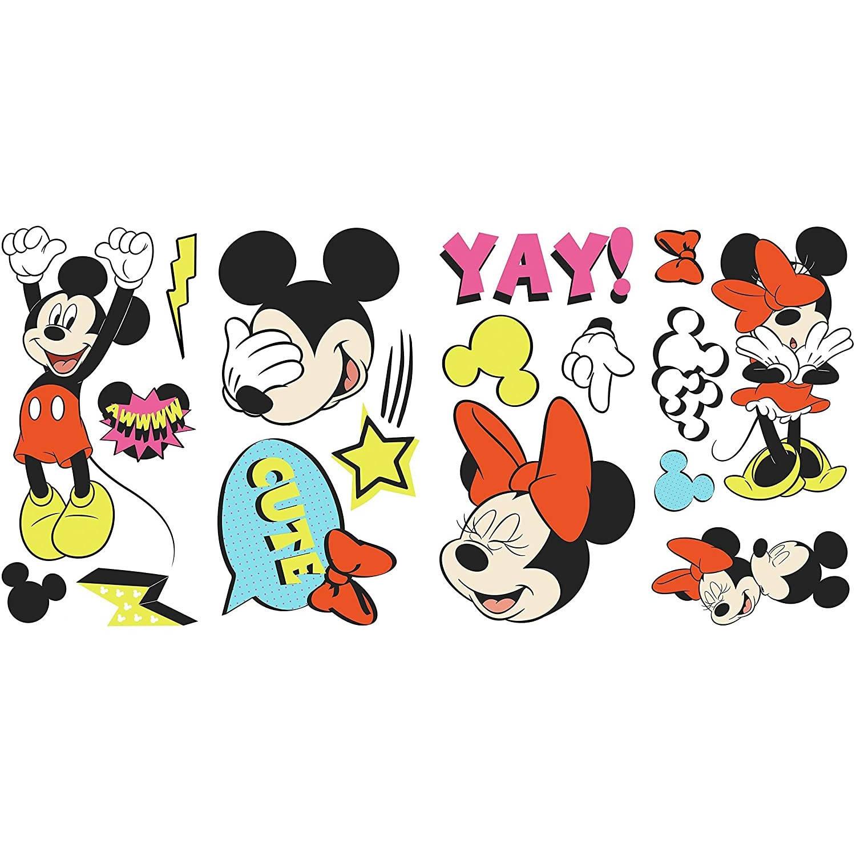 Roommates Muurstickers Mickey & Minnie Junior Vinyl 17-delig