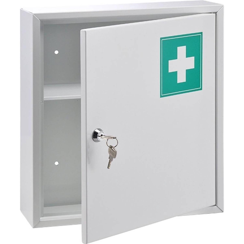 Korting Haushalt 3329 Stalen Medicijnen Kast Wit