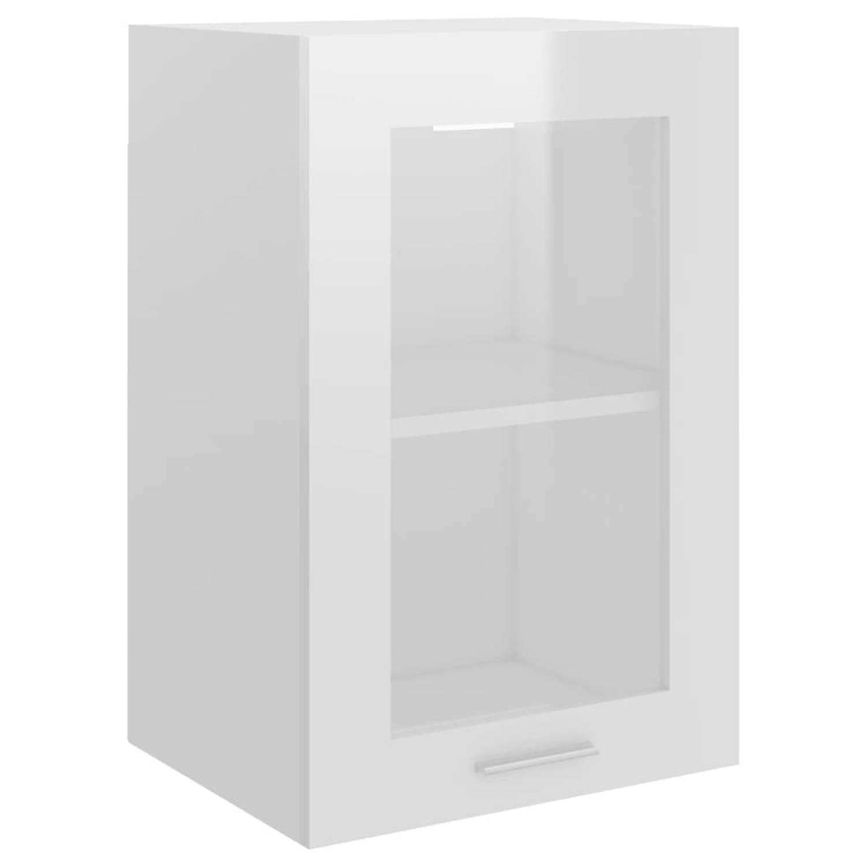 vidaXL Keukenkast 40x31x60 cm spaanplaat hoogglans wit
