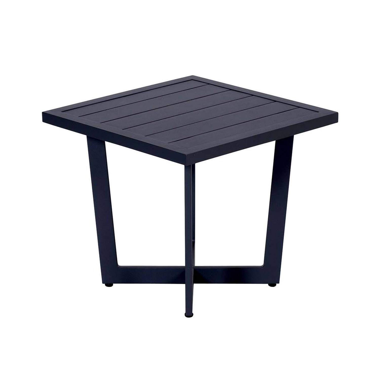 Korting Garden Impressions Ivy Bijzettafel 47,5x47,5xh42 Carbon Black
